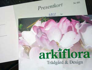 Presentkort Arkiflora